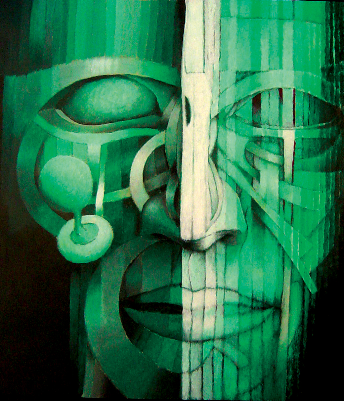 2001_Rostro 3 Autorretrato_acrylic_2x2